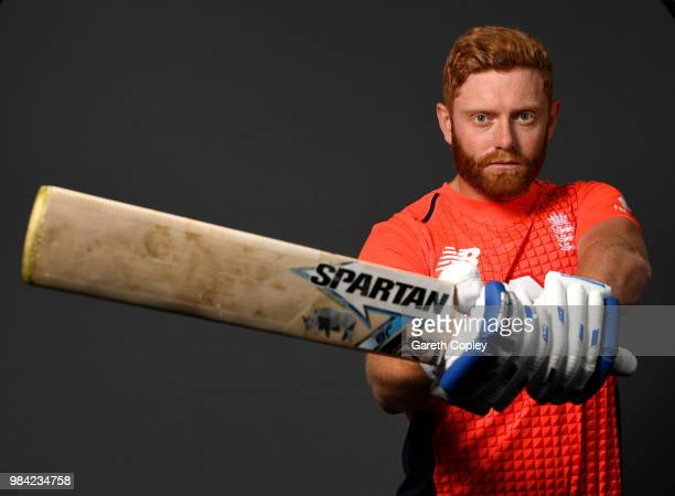 Jonathan Bairstow of England poses for a portrait at Edgbaston on June 26 2018 in Birmingham England