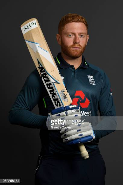 Jonathan Bairstow of England poses for a portrait at The Kia Oval on June 12 2018 in London England