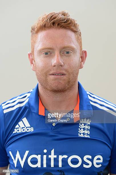 Jonathan Bairstow of England poses for a portrait at Zayed Cricket Stadium on November 10 2015 in Abu Dhabi United Arab Emirates