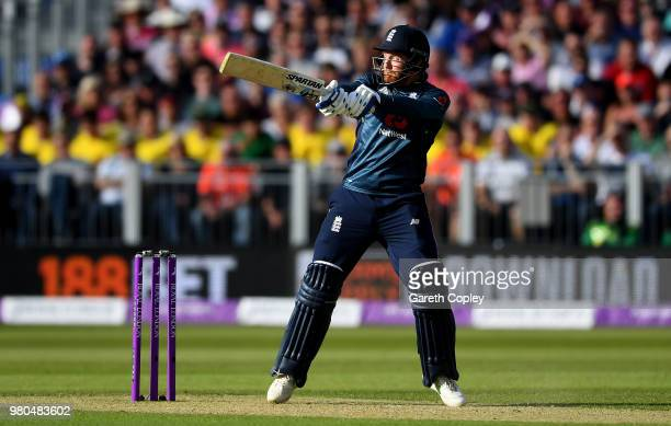 Jonathan Bairstow of Yorkshire bats during the 4th Royal London One Day International between England and Australia at Emirates Durham ICG on June 21...