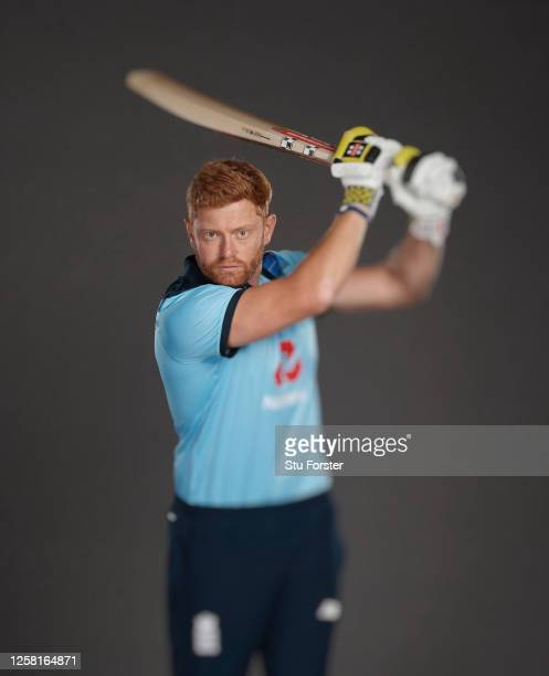 Jonathan Bairstow poses for a portrait during the England One Day International Squad Photo call at Ageas Bowl on July 24, 2020 in Southampton,...