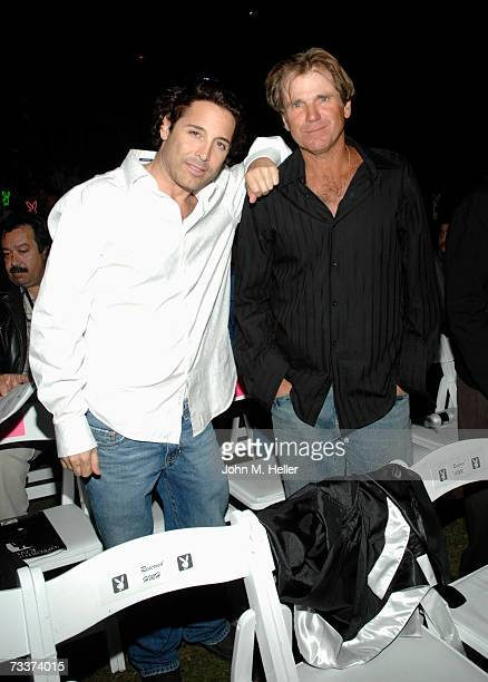 Jonathan Baker and Nels Van Patten attend Fight Night at the Playboy Mansion on February 16 2007 in Holmby Hills California