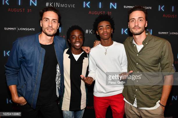 Actor Caleb McLaughlin and producer Dan Cohen attend 'Kin' Atlanta screening at Regal Atlantic Station on August 20 2018 in Atlanta Georgia