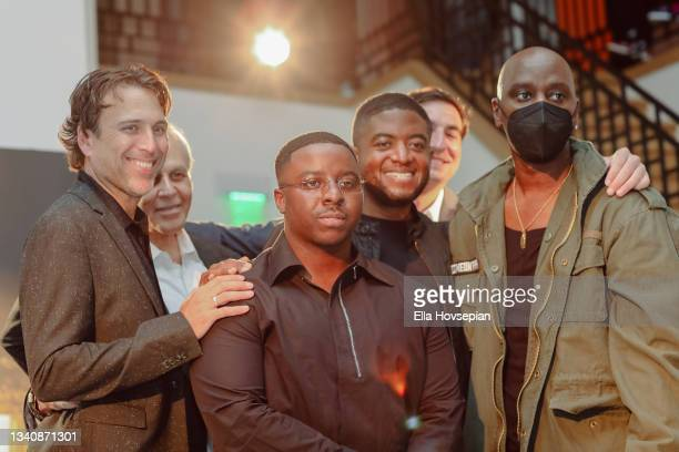 Jonathan Baker, David Helfant, Enoch, Andre Gains, Matt Rachamkin and Kyle Townsend attend The One And Only, Dick Gregory, Album Release Event on...