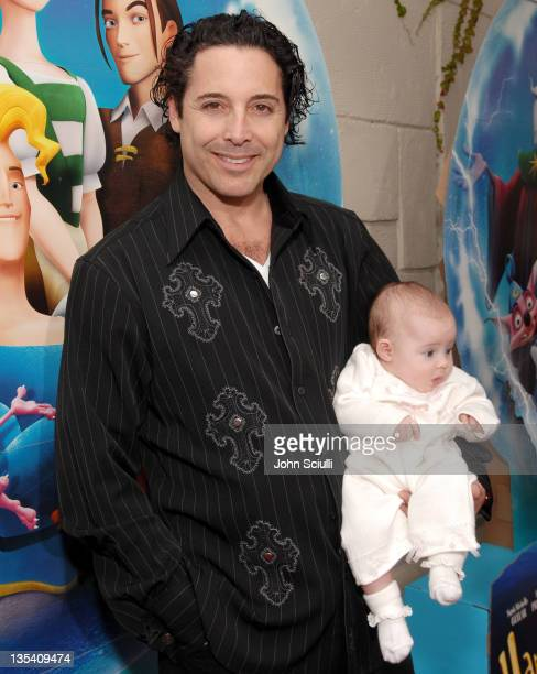 Jonathan Baker with his daughter Trease during Los Angeles Premiere of LionsGate's 'Happily N'Ever After' Hosted by the Hot Moms Club at The Mann...