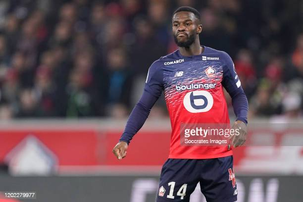 Jonathan Bamba of Lille during the French League 1 match between Lille v Olympique Marseille at the Stade Pierre Mauroy on February 16, 2020 in Lille...