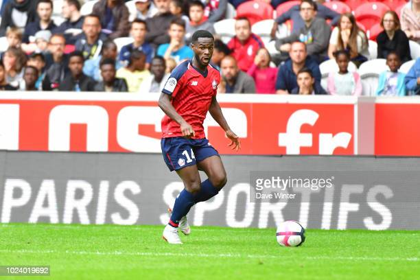 Jonathan Bamba of Lille during the Ligue 1 match between Lille and Guingamp on August 26 2018 in Lille France
