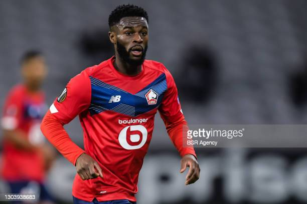 Jonathan Bamba of LOSC Lille during the UEFA Europa League match between Lille OSC and Ajax at Stade Pierre Mauroy on February 18, 2021 in Lille,...