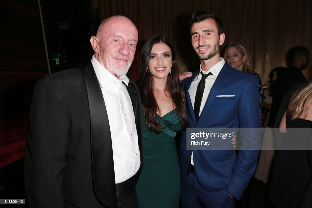 Jonathan Banks (L) and family attend the AMC Networks 69th Primetime Emmy Awards After-Party Celebration at BOA Steakhouse on September 17, 2017 in West Hollywood, California.