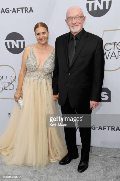 Jonathan Banks and Gennera Banks attend the 25th Annual Screen ActorsGuild Awards at The Shrine Auditorium on January 27, 2019 in Los Angeles,...