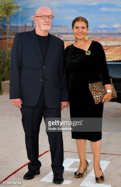 """Jonathan Banks and Gennera Banks attend the premiere of Netflix's """"El Camino: A Breaking Bad Movie"""" at Regency Village Theatre on October 07, 2019 in..."""