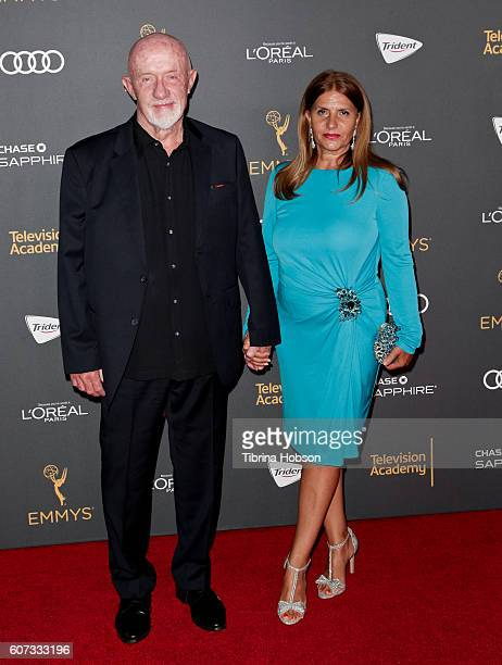 Jonathan Banks and Gennera Banks attend the Television Academy reception for Emmy Nominees at Pacific Design Center on September 16 2016 in West...