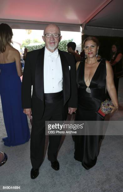 Jonathan Banks and his wife Gennera Banks arrive on the red carpet at the 69TH PRIMETIME EMMY AWARDS LIVE from the Microsoft Theater in Los Angeles...