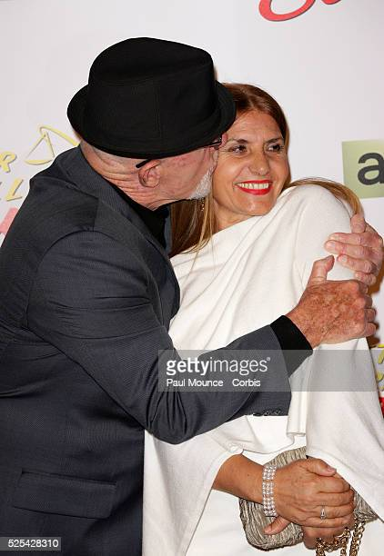 Jonathan Banks and his wife Gennera Banks arrive on the red carpet during the premiere of Better Call Saul