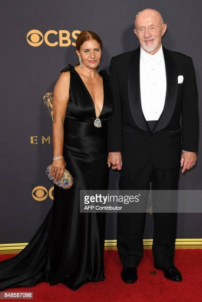 Jonathan Banks and his wife Gennera Banks arrives for the 69th Emmy Awards at the Microsoft Theatre on September 17 2017 in Los Angeles California /...