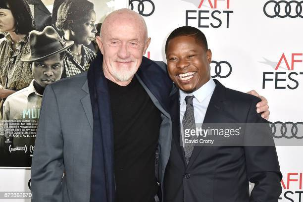 Jonathan Banks and Jason Mitchell attend the AFI FEST 2017 Presented By Audi Opening Night Gala Screening Of Netflix's 'Mudbound' Arrivals at TCL...