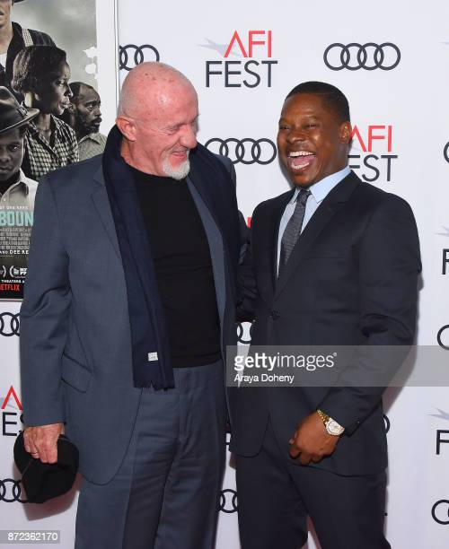 Jonathan Banks and Jason Mitchell attend the screening of Netflix's 'Mudbound' at the Opening Night Gala of AFI FEST 2017 presented by Audi at TCL...