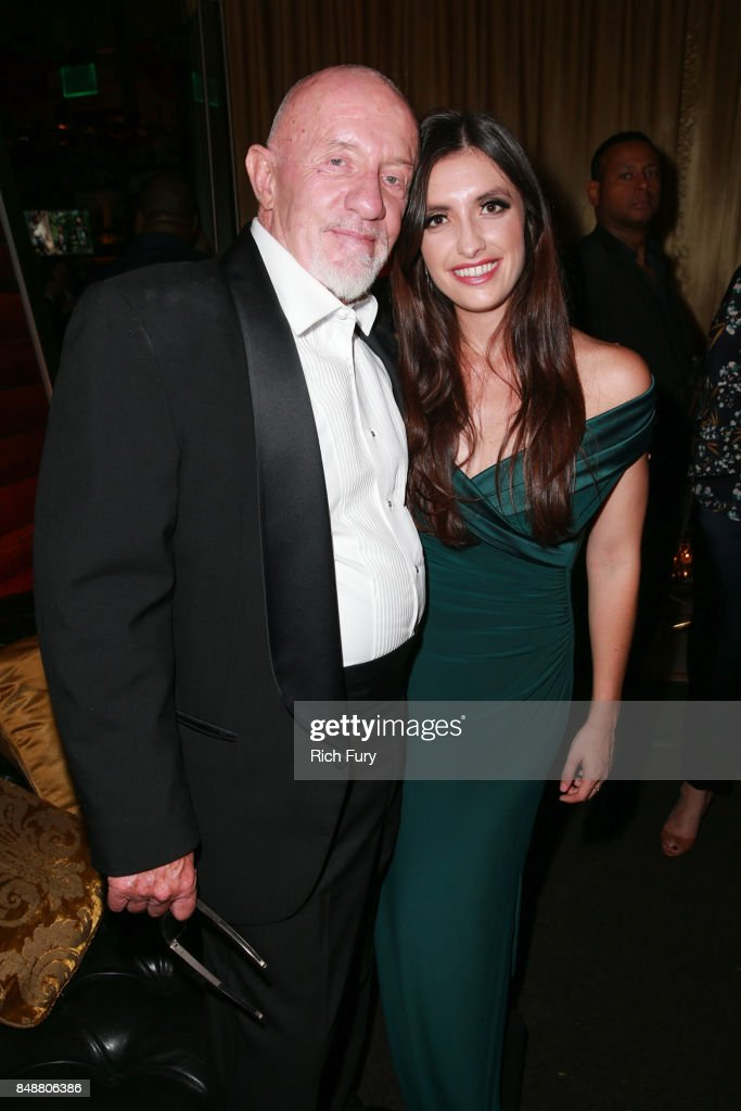 Jonathan Banks (L) and Rebecca Banks attend the AMC Networks 69th Primetime Emmy Awards After-Party Celebration at BOA Steakhouse on September 17, 2017 in West Hollywood, California.