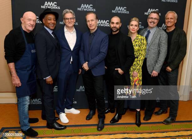 Jonathan Banks, Giancarlo Esposito, Peter Gould, Bob Odenkirk, Michael Mando, Rhea Seehorn, Vince Gilligan and Patrick Fabian of 'Better Call Saul'...