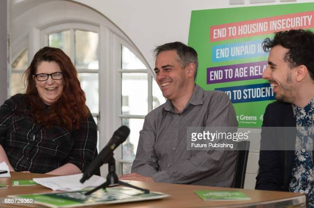 Jonathan Bartley coleader of the Green Party launches the party's manifesto for young people at the Cambridge House for the 2017 General Election on...