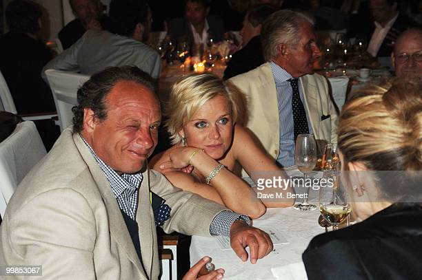 Jonathan Becker and Barbara Sturm attend Finch's Quarterly Cannes Dinner 2010 at the Hotel du Cap as part of the 63rd Cannes Film Festival on May 17...