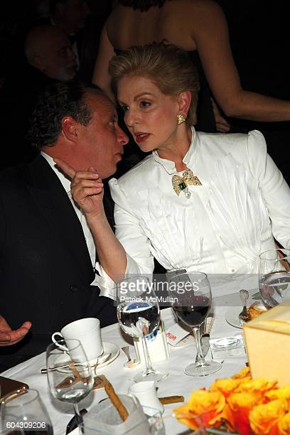 Jonathan Becker and Carolina Herrera attend Vanity Fair Oscar Party at Morton's Restaurant on March 5 2006