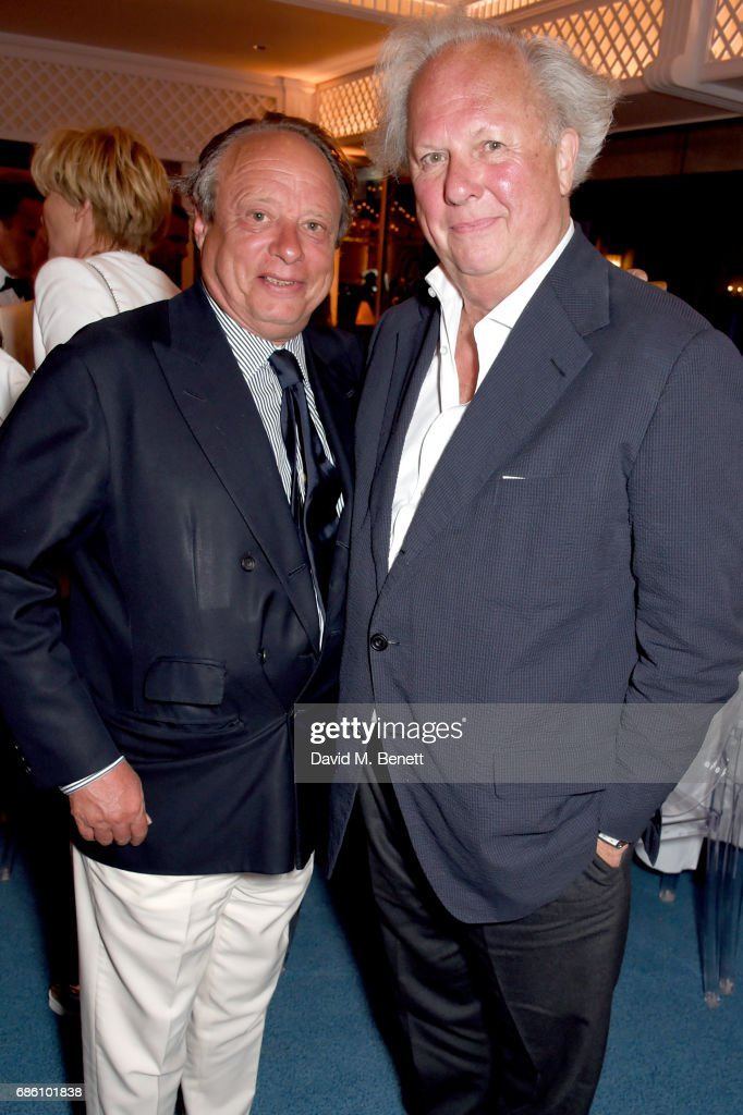 Jonathan Becker (L) and Graydon Carter attend the Vanity Fair and HBO Dinner celebrating the Cannes Film Festival at Hotel du Cap-Eden-Roc on May 20, 2017 in Cap d'Antibes, France.