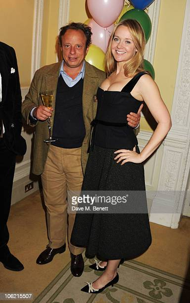 Jonathan Becker and Kate Reardon attend a launch party for Vanity Fair's 'On Couture' hosted by Kate Reardon and Michael Roberts at Moet and Chandon...