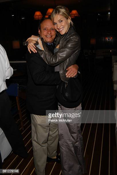 Jonathan Becker and Merily Jurna attend Bob Colacello's Dinner For Martin Saar and Alex Kramer's Birthday at Lure Fishbar on April 28 2005 in New...