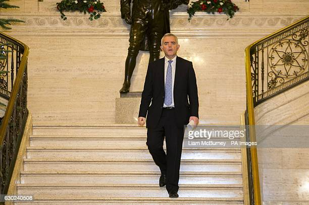 Jonathan Bell walking into the Great Hall at Parliament Buildings in Stormont Belfast as First Minister Arlene Foster faced a vote of no confidence...