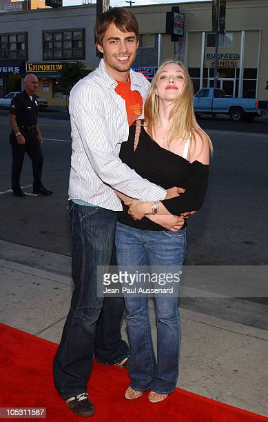 Jonathan Bennett and Amanda Seyfried during 'Stateside' Los Angeles Premiere Arrivals at The Crest Theatre in Westwood California United States
