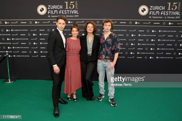 Jonathan Berlin Janina Fautz Barbara Auer and Michelangelo Fortuzzi attend the Der Preis der Freiheit premiere during the 15th Zurich Film Festival...