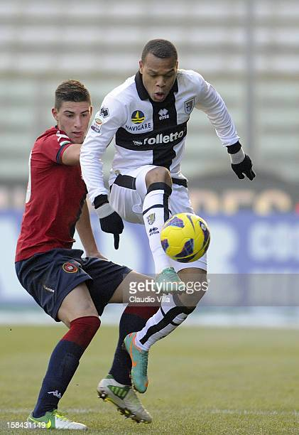 Jonathan Biabiany of FC in action during the Serie A match between Parma FC and Cagliari Calcio at Stadio Ennio Tardini on December 16 2012 in Parma...