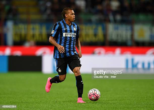 Jonathan Biabiany of FC Internazionale in action during the Serie A match between FC Internazionale Milano and Hellas Verona FC at Stadio Giuseppe...