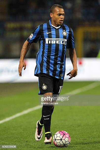Jonathan Biabiany of FC Internazionale Milano in action during the Serie A match between FC Internazionale Milano and Udinese Calcio at Stadio...