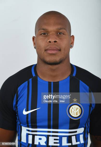 Jonathan Biabiany of FC Internazionale poses on July 8 2017 in Reischach near Bruneck Italy