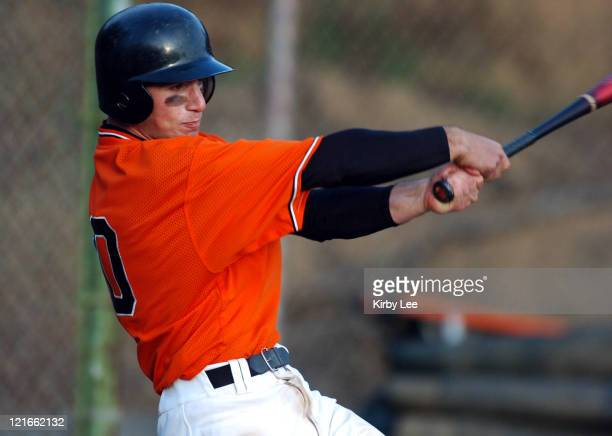 Jonathan Birch of Occidental College bats during 75 nonconference victory over Illinois Tech at Anderson Field in Eagle Rock Calif on Tuesday March...