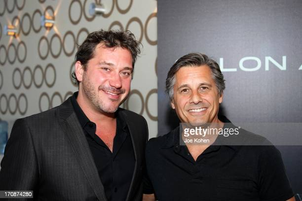 Jonathan BlockVerk President and CEO of PromaxBDA and Kevin Mazur CoFounder WireImage attend PROMAXBDA 2013 at JW Marriott Los Angeles at LA LIVE on...