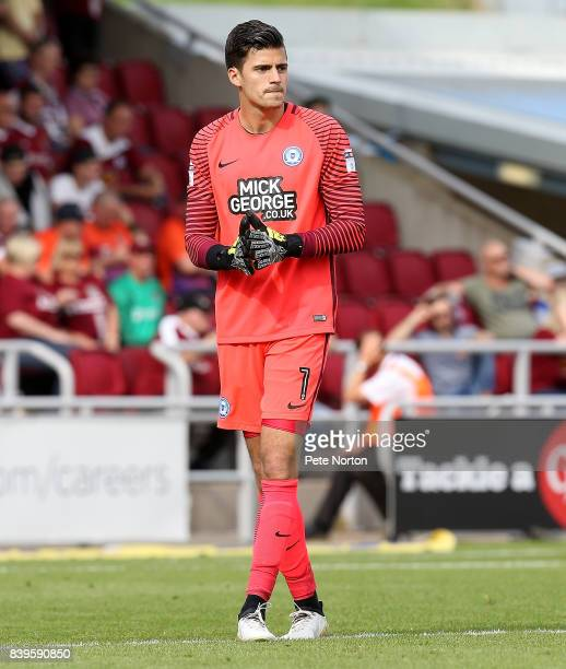 Jonathan Bond of Peterborough United in action during the Sky Bet League One match between Northampton Town and Peterborough United at Sixfields on...