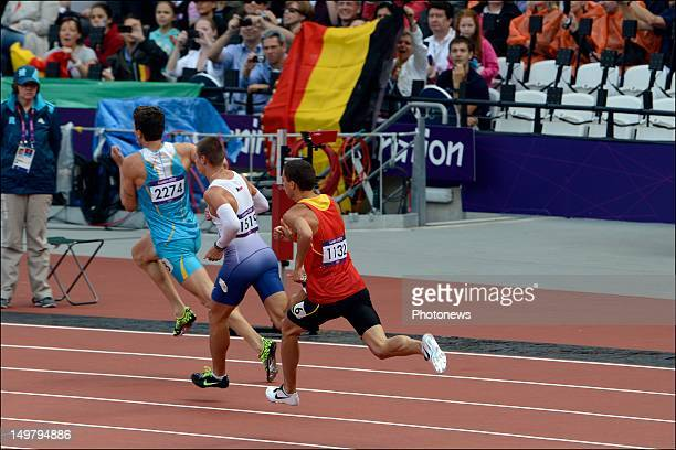Jonathan Borlee of Belgium during the the heats of the 400m Men Athletics held during Day 08 of the London 2012 Olympic Games at the Olympic Stadium...