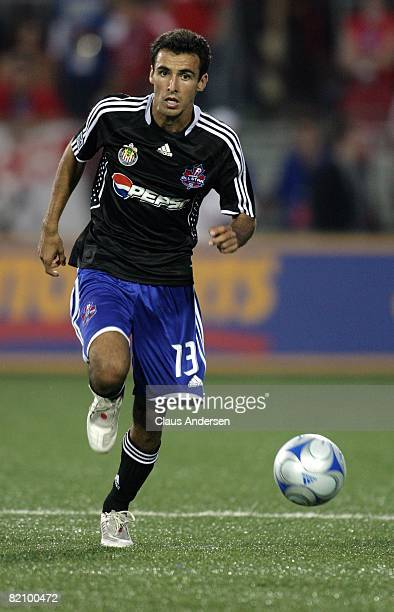 Jonathan Bornstein plays in the 2008 Pepsi MLS All-Star Game between the MLS All-Stars and West Ham United at BMO Field on July 24, 2008 in Toronto,...