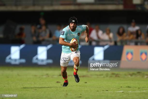 Jonathan Bousquet of Perpignan during the Pro D2 match between Perpignan and Beziers on August 22 2019 in Perpignan France