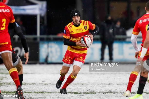 Jonathan BOUSQUET of Perpignan during the Pro D2 match between US Oyonnax and US Harlequins Perpignanais on November 14 2019 in Oyonnax France
