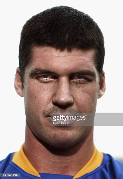 Jonathan Brown of the Brisbane Lions poses during the 2012 AFL Captains Photo Call at The Museum of Contemporary Art on March 22 2012 in Sydney...