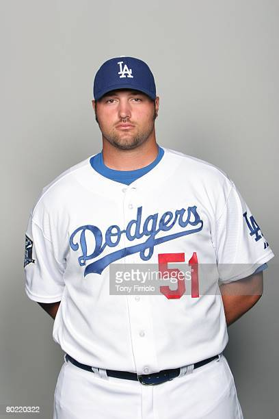 Jonathan Broxton of the Los Angeles Dodgers poses for a portrait during photo day at Holman Stadium on February 24, 2008 in Vero Beach, Florida.