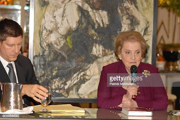 Jonathan Burnham and Madeleine Albright attend Madeleine Albright and Jonathan Burnham introduce her new book THE MIGHTY ALMIGHTY Reflections on...