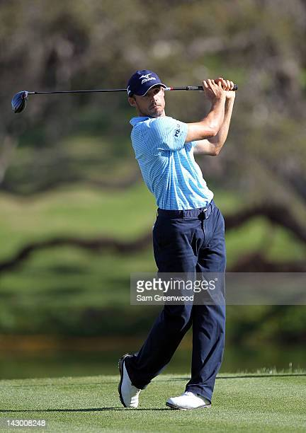 Jonathan Byrd hits a shot during the second round of the Arnold Palmer Invitational presented by MasterCard at the Bay Hill Club and Lodge on March...