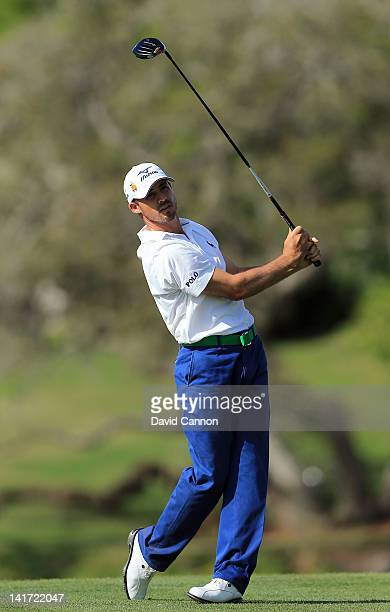 Jonathan Byrd of the USA plays his tee shot at the par 5 16th hole during the first round of the 2012 Arnold Palmer Invitational presented by...