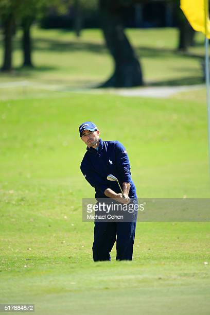 Jonathan Byrd plays a shot during the final round of the Chitimacha Louisiana Open presented by NACHER held at Le Triomphe Golf and Country Club on...