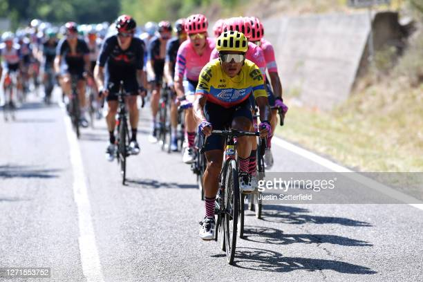 Jonathan Caicedo of Ecuador and Team EF Pro Cycling / during the 55th Tirreno-Adriatico 2020, Stage 3 a 217km stage from Follonica to Saturnia 294m /...